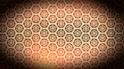 Black and Brown Vintage Ornamental Pattern Wallpaper