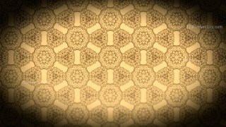 Black and Brown Vintage Seamless Ornamental Pattern Wallpaper