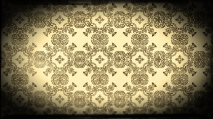 Black and Brown Vintage Ornament Wallpaper Pattern Design