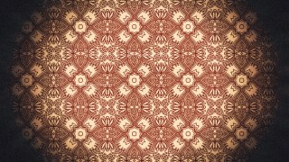 Black and Brown Vintage Decorative Floral Pattern Background