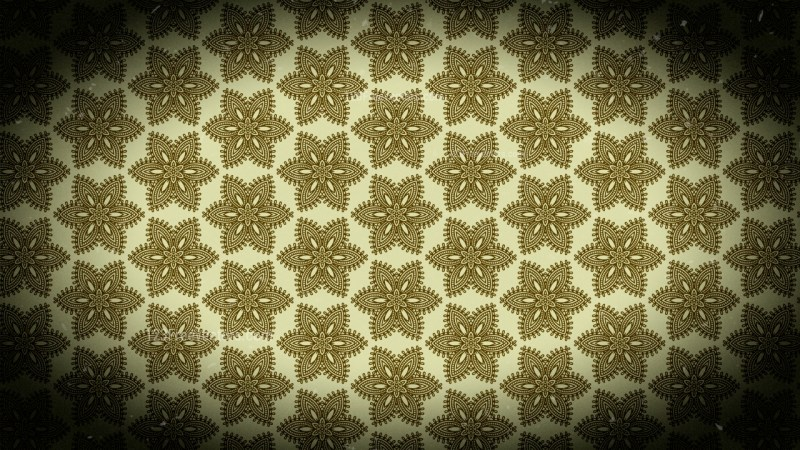 Black and Brown Vintage Floral Seamless Pattern Background Graphic