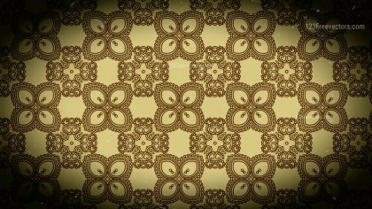 Black and Brown Vintage Seamless Ornamental Pattern Background
