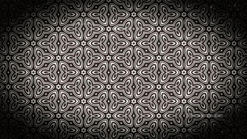 Black and Brown Vintage Ornament Background Pattern Image