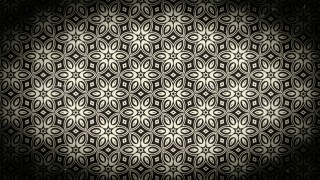 Black and Brown Vintage Seamless Floral Background Pattern