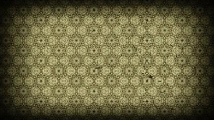 Black and Brown Vintage Flower Wallpaper Pattern