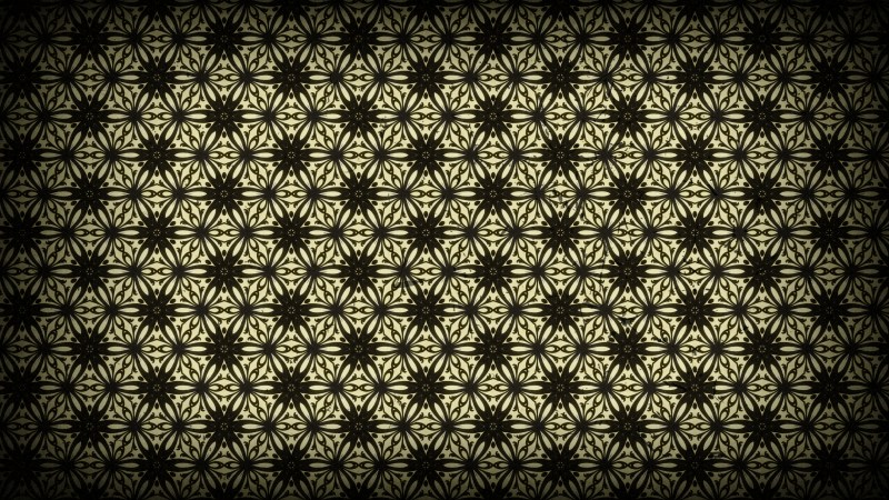 Black and Brown Vintage Seamless Floral Wallpaper Pattern