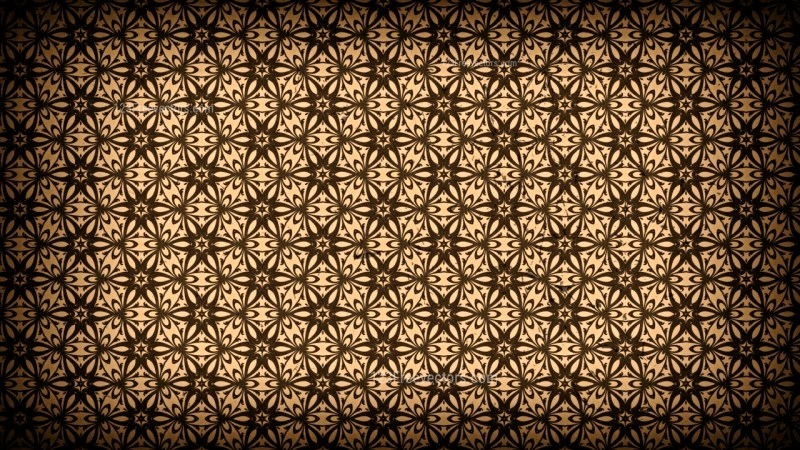 Black and Brown Vintage Seamless Ornament Wallpaper Pattern Design Template