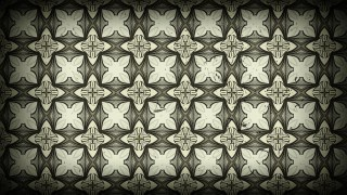 Black and Brown Ornamental Vintage Background Pattern