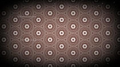 Black and Brown Vintage Ornamental Pattern Background