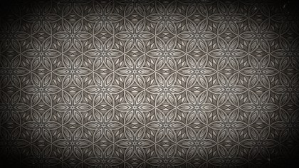 Black and Brown Vintage Ornamental Seamless Pattern Background Design