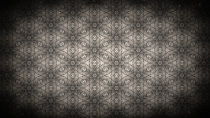 Black and Brown Vintage Floral Ornament Background Pattern Template