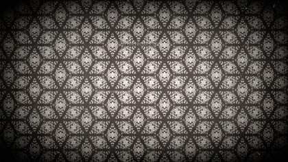 Black and Brown Vintage Seamless Floral Background Pattern
