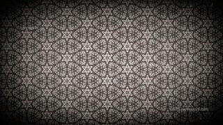Black and Brown Vintage Decorative Floral Seamless Pattern Wallpaper Design