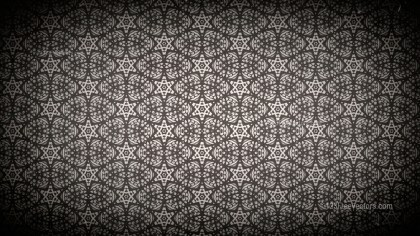 Black and Brown Vintage Decorative Floral Seamless Pattern Wallpaper Design