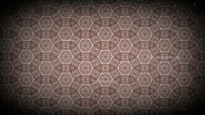 Black and Brown Vintage Floral Pattern Wallpaper