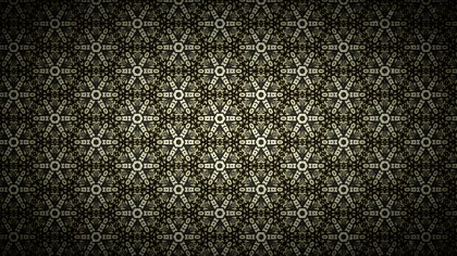 Black and Brown Vintage Decorative Ornament Wallpaper Pattern