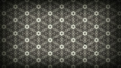 Black and Brown Vintage Decorative Floral Pattern Background