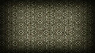 Black and Brown Vintage Floral Pattern Background