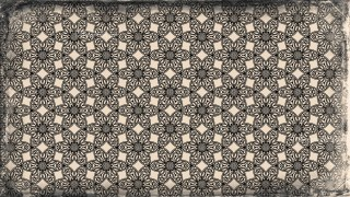 Black and Brown Vintage Decorative Floral Pattern Wallpaper