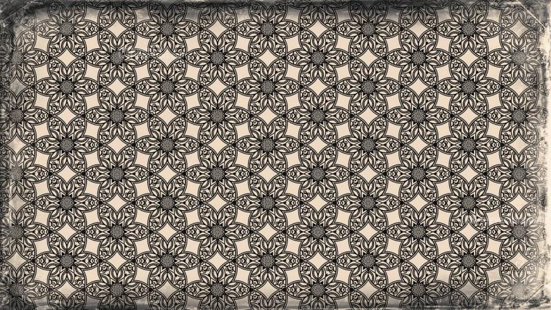 Black and Brown Vintage Decorative Floral Pattern Wallpaper