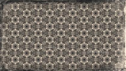 Black and Brown Vintage Floral Pattern Wallpaper