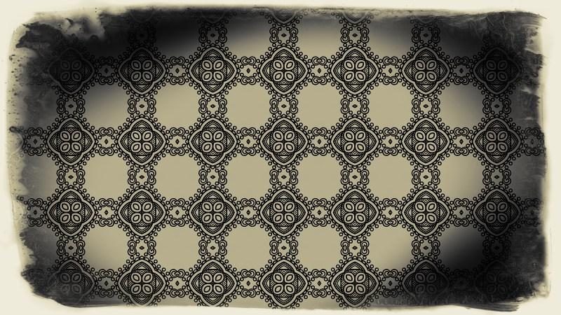 Black and Brown Vintage Floral Wallpaper Background
