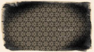 Black and Brown Ornamental Vintage Background Pattern