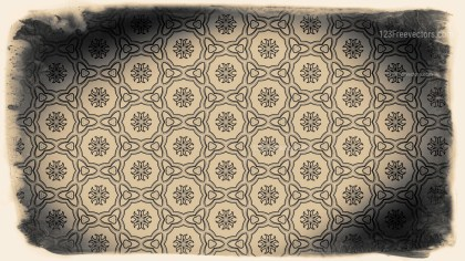 Black and Brown Vintage Decorative Floral Seamless Pattern Background Image