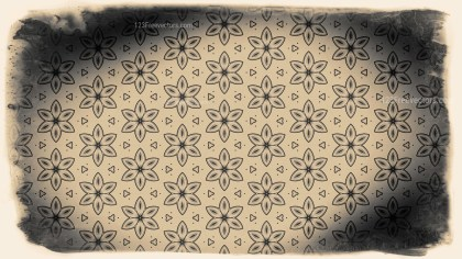 Black and Brown Vintage Decorative Floral Ornament Background Pattern Design Template