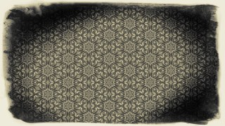 Black and Brown Vintage Flower Wallpaper Pattern