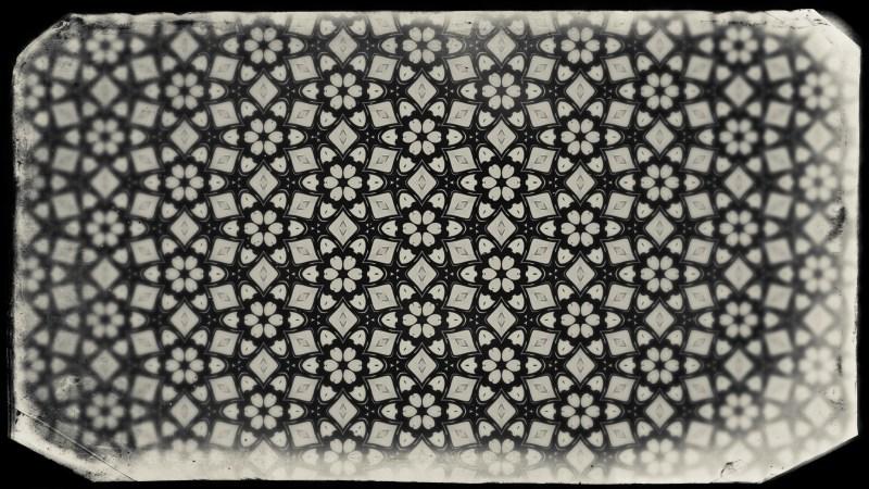 Black and Brown Vintage Seamless Floral Wallpaper Pattern