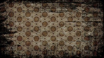 Black and Brown Vintage Grunge Decorative Floral Ornament Pattern Background