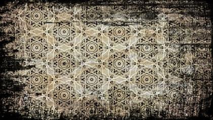 Vintage Grunge Decorative Floral Pattern Background