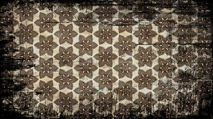 Black and Brown Vintage Grunge Decorative Ornament Pattern Background