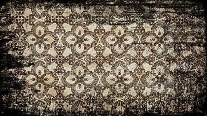 Black and Brown Vintage Grunge Floral Ornament Pattern Background Image
