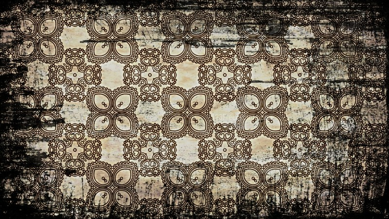 Vintage Grunge Seamless Ornamental Pattern Background