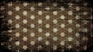 Vintage Grunge Decorative Floral Pattern Wallpaper