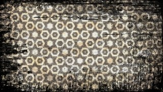 Black and Brown Vintage Grunge Decorative Ornament Pattern Wallpaper