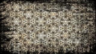 Black and Brown Vintage Grunge Floral Ornament Pattern Wallpaper Design