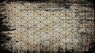 Black and Brown Vintage Grunge Flower Pattern Wallpaper