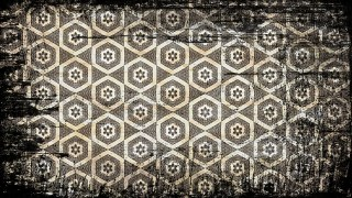 Black and Brown Vintage Grunge Seamless Ornament Pattern Wallpaper Template