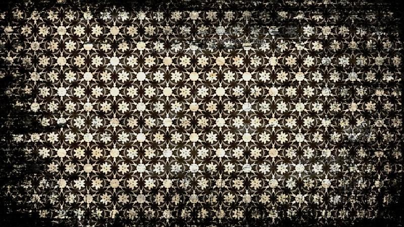 Vintage Grunge Decorative Ornament Wallpaper Pattern