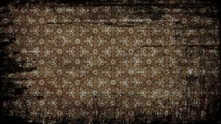 Black and Brown Vintage Grunge Floral Wallpaper Pattern