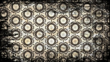 Black and Brown Vintage Grunge Floral Seamless Wallpaper Pattern Graphic