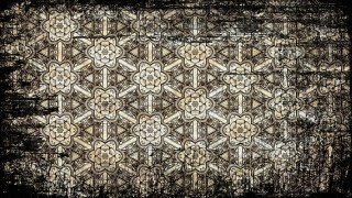 Black and Brown Vintage Grunge Floral Pattern Background Texture