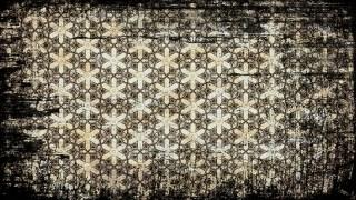Black and Brown Ornamental Vintage Grunge Pattern Background Template
