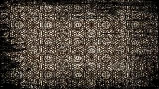 Black and Brown Vintage Grunge Decorative Ornament Pattern Background
