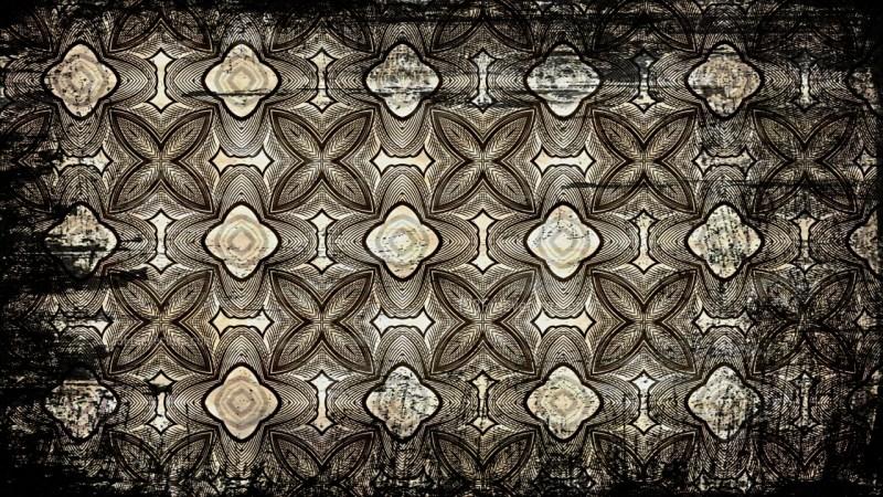 Black and Brown Vintage Grunge Ornament Pattern Background Design