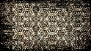 Black and Brown Vintage Grunge Seamless Floral Pattern Background