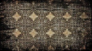 Vintage Grunge Floral Ornament Background Pattern Design